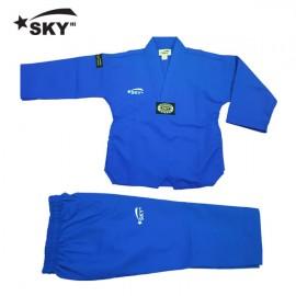 스카이 칼라 골지도복 [파랑]